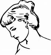 Female Profile Drawing...Clipart Head Profile