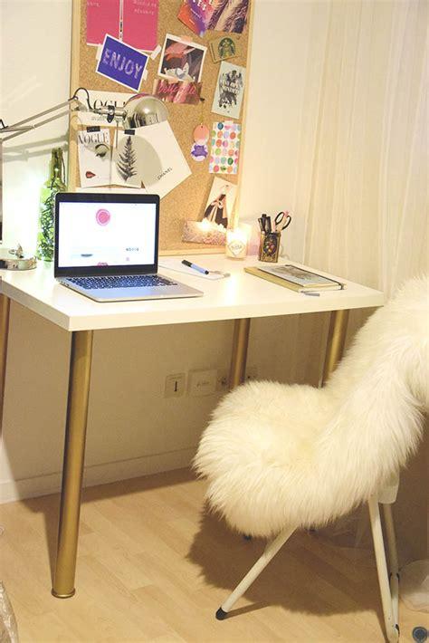 diy deco bureau diy 18 déco un bureau customisé avec des pieds or