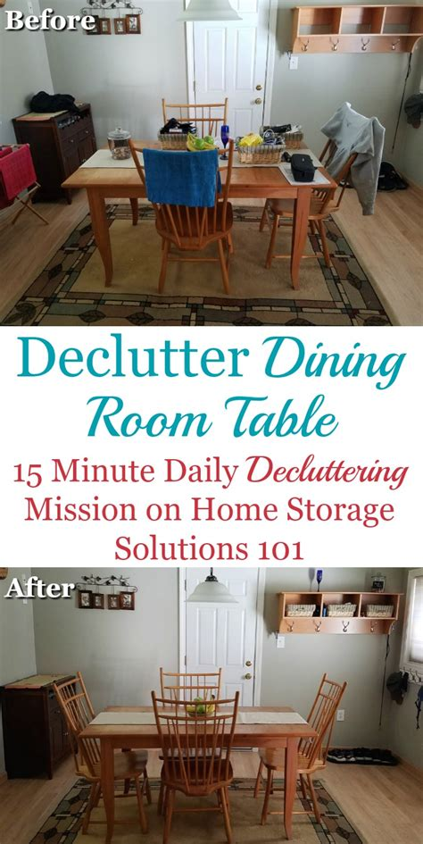 declutter  dining room table