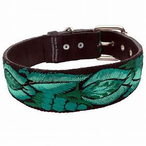 Leather Dog Collar, Jade Dog Collar, from Tilde Boutique