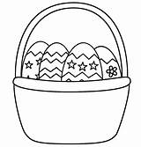 Coloring Basket Easter Empty Pages Popular sketch template