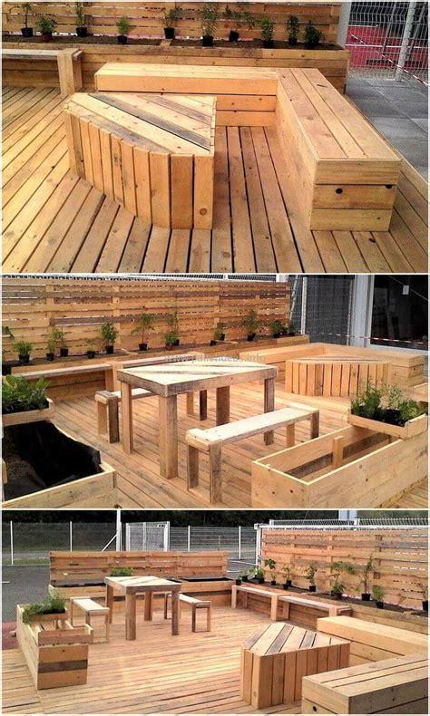 diy ideas  wood pallet garden terrace diy motive