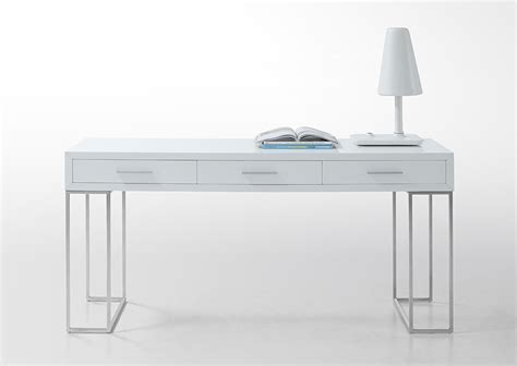 modern white desk with drawers sheldon modern white lacquer desk ebay