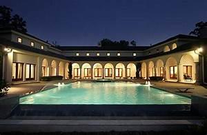 U-shaped, Houses, With, Pool