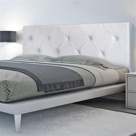 tete de lit capitonnee cuir blanc t 234 te de lit capitonn 233 e simili cuir blanc 160x60cm imprim 233 14