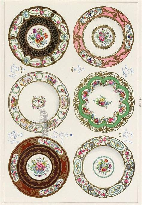 printable porcelain  dollhouse plates  printables pinterest
