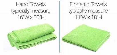 Towel Towels Fingertip Hand Sizes Guide Towelsupercenter