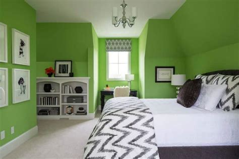 bedroom with lime green wall color decorate a room with