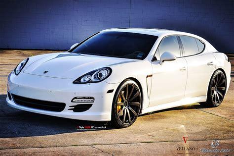 Porsche Panamera White Vellano Wheels Tuning Cars