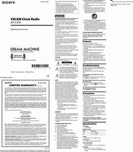 Sony Icf C318 User Manual Operating Instructions Icfc318 Us