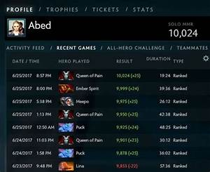 We Finally Have A 10000 MMR Player The Quotassassinsquot Didn