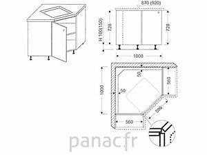 Meuble Plaque Cuisson : meuble d 39 angle sous plaque de cuisson oc 100 nsl ~ Teatrodelosmanantiales.com Idées de Décoration