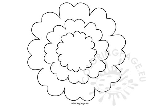 free printable flower template printable flower petal template coloring page