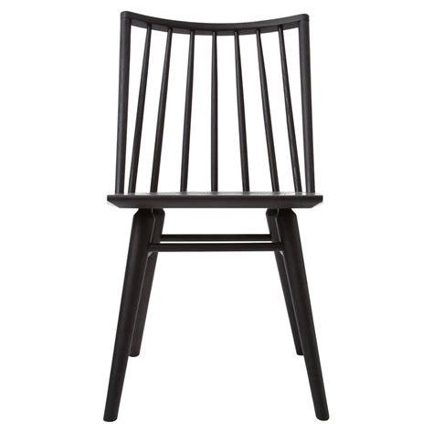 lara modern classic black oak simple dining chair pair