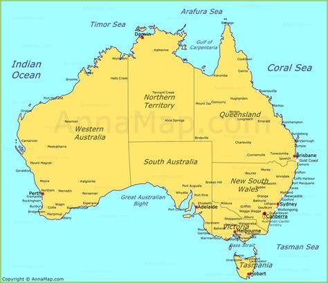 australia map map  australia annamapcom