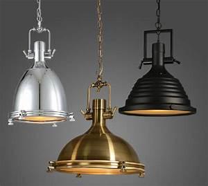 Vintage lamp american style e copper chrome pendant