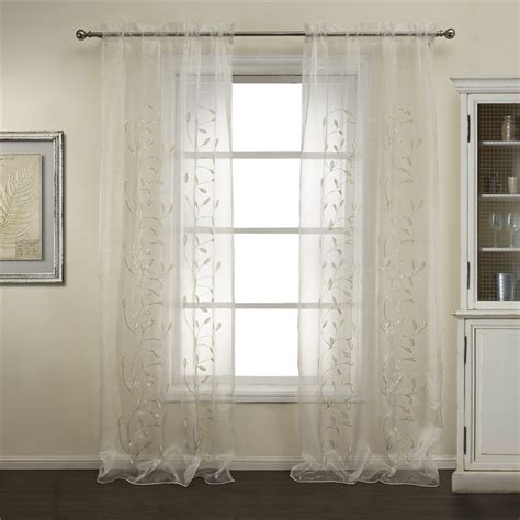 well made leaf and floral sheer curtains