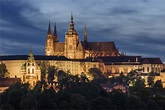 Prague Castle with St. Vitus Cathedral on the Hradcany ...