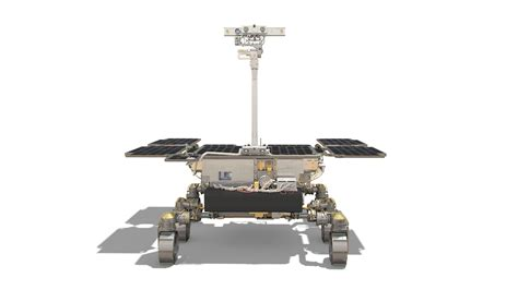 esa robotic exploration mars exomars rover front view