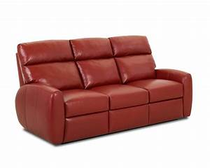 Red leather recliner sofa ventana red leather recliner sofa for Red leather sectional sofa with recliners