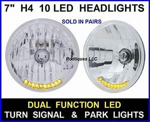 10 Led Dual Function Turn  U0026 Park Light H4 Headlamps