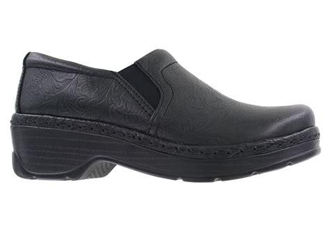 womens klogs naples slip  black tooled