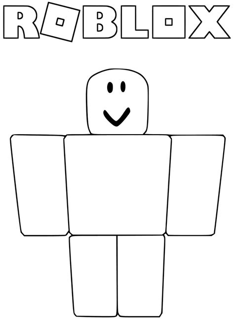 Kleurplaat Roblox by Roblox Roblox Coloring Page 10 Coloring Pages