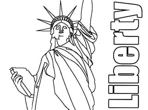 Coloring Pages Of The Statue Of Liberty - Democraciaejustica