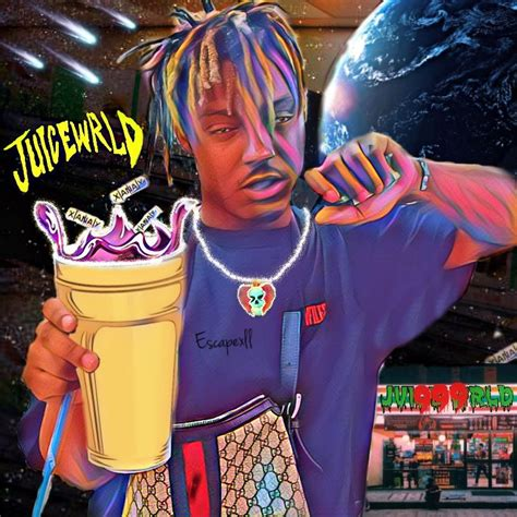 Juice world black and white. Juice Wrld Art by me   Rapper art, Juice rapper, Hip hop art