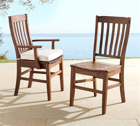 benchwright outdoor dining chair pottery barn