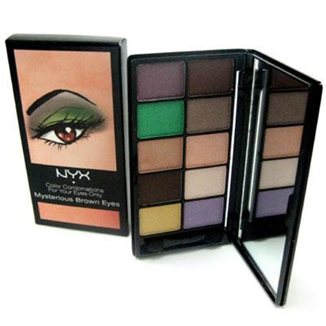 nyx eyeshadow palette  colour mysterious brown eyes buy
