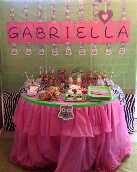 hot pink lime green  zebra owl  birthday birthday