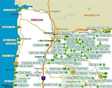 oregon state parks map oregon map