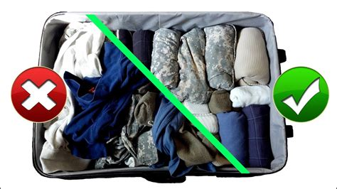 Army Hack Packing Suitcase Baggage Like A Pro For