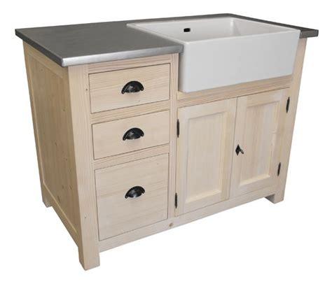 meuble cuisine avec evier integre meuble 233 vier 3 tiroirs avec 233 vier inclus en pin massif