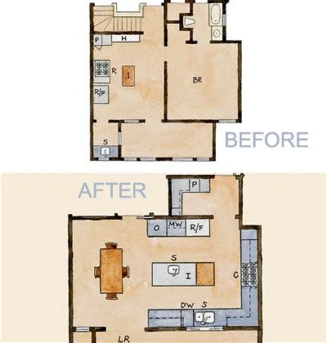 Kitchen Floor Plans And After by 39 Best Kitchen Floor Plans Images On Floors