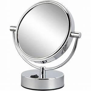 Miroir à Poser : miroir grossissant x 5 rond poser x x cm mathilde leroy merlin ~ Teatrodelosmanantiales.com Idées de Décoration