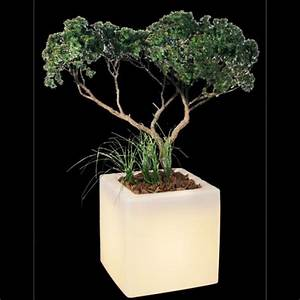 Pot Fleur Lumineux : pot de fleurs lumineux 35 x 35 cm sur grossiste chinois import ~ Nature-et-papiers.com Idées de Décoration