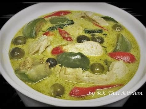 thai kitchen green curry green curry with chicken แกงเข ยวหวานไก thai food rk 7174