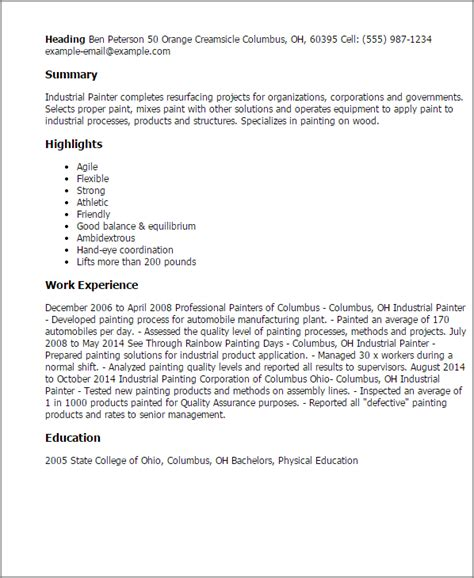 Industrial Painter Resume Template — Best Design & Tips. How To Put References On Your Resume. Accounts Receivable Resume Examples. Sample Profile Resume. Good Resume Objectives Samples. Fashion Stylist Resume Samples. Pharmacy Tech Objective Resume. Investment Bank Resume Template. Good Sales Resume