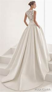 Rosa clara 2017 bridal collection these wedding dresses for Drop waist ball gown wedding dress