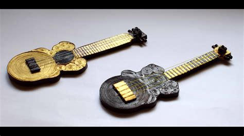 quilled miniature guitar quilled guitar quilled