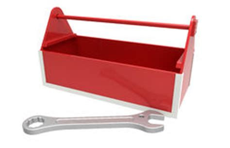 Empty Red Toolbox Royalty Free Stock Image  Image 3504846