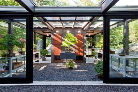 glass pavilion shed modern  patio sheds