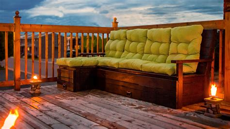 diy outdoor wood sectional sofa bench with storage