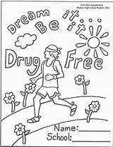 Ribbon Week Coloring Drugs Say Printable Anti Drug Sheets Smoking Sheet Drawing Recovery Activities Colouring Lessons Adults Worksheets Onlycoloringpages Printables sketch template