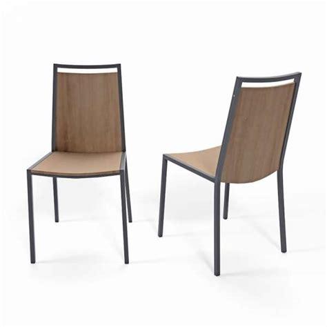 4 pieds chaise chaise de cuisine en métal et bois concept 4 pieds