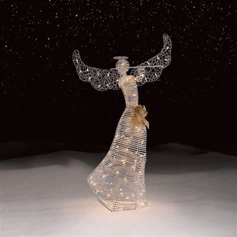 roebuck  silver angel outdoor christmas decor