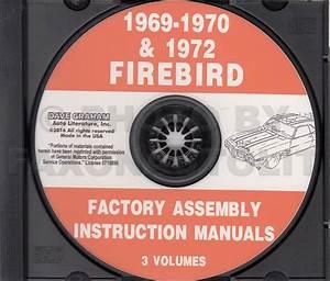 1969 Firebird  U0026 Trans Am Assembly Manual Reprint