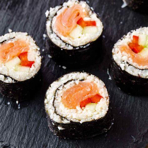 cauliflower rice sushi rolls paleo grubs